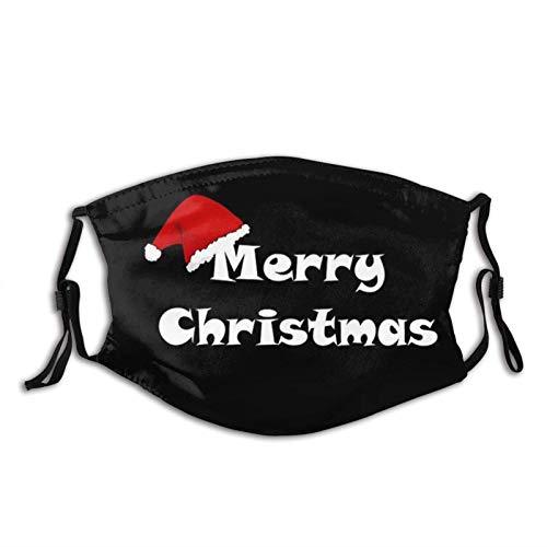 Fanny, passamontagna per barba con Babbo Natale, lavabile, riutilizzabile, con 2 filtri, per uomo e donna