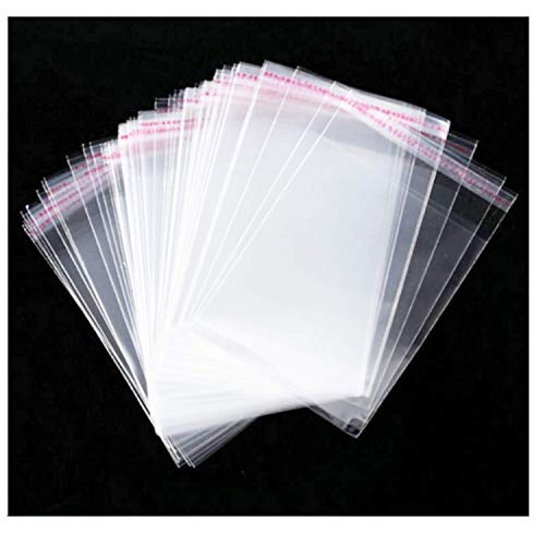 Cellophane Bag 5 x6.5 inch Clear Resealable Bags Plastic Self Adhesive Bags Good for Bakery,Favors, Candle, Soap, Cookie Office Stationery Storage Bags,Arts & Crafts (5X6.5inch-100Pcs)