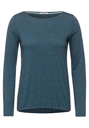 Cecil Damen Langarmshirt mit Streifen Atlantic Green XL
