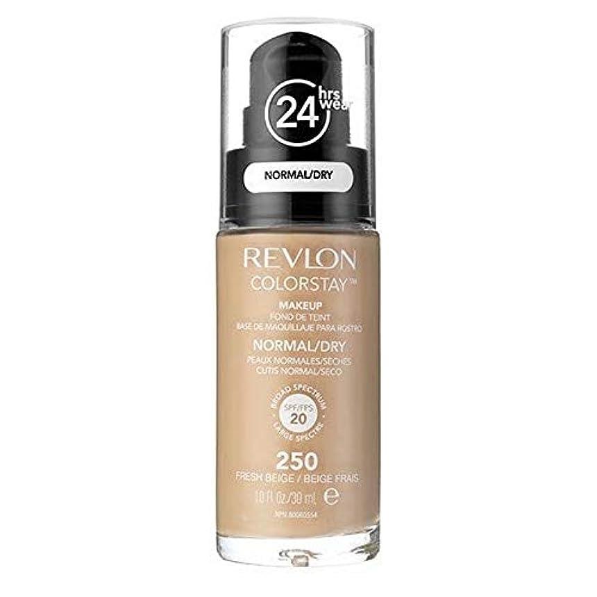 不快鼻ずらす[Revlon ] レブロンカラーステイ基盤ノルム/ドライFreshbeige 30ミリリットル - Revlon Color Stay Foundation Norm/Dry Freshbeige 30ml [並行輸入品]