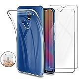 Younme Cover Xiaomi Redmi 8A Custodia, Trasparente Custodia Sottile Silicone TPU Case +...