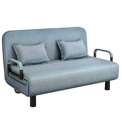 RJMOLU Cama de Silla de sofá Sofá Plegable sofá Cama multifunción sofá Cama Recliner del sofá Convertible Comfort para la Sala de Estar de la Sala de Estar del hogar,Azul,100cm