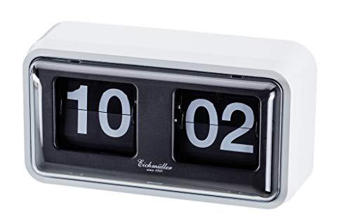 Eichmüller since 1950 Retro Flip Uhr mit Gehäuse - weiß schwarz