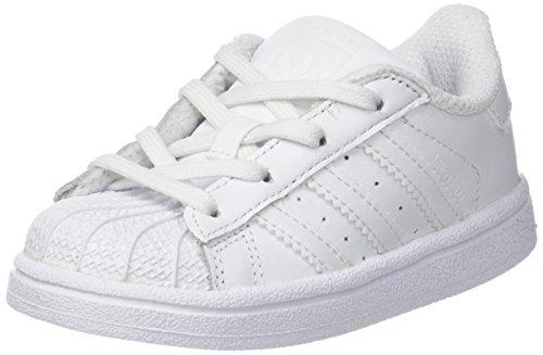 adidas Unisex Baby Superstar Sneaker, Weiß (Footwear White/Footwear White/Footwear White), 23 EU
