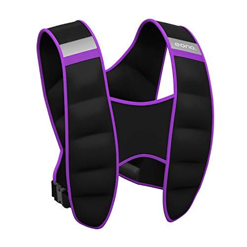 Amazon Brand - Eono - Gewichtsweste 5kg 8kg 10kg,gewichtweste Trainingsweste für Fitness, Krafttraining, Laufen, Muskelaufbau