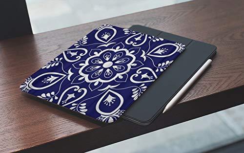 Funda para iPad 10.2 Pulgadas,2019/2020 Modelo, 7ª / 8ª generación,Adornos con motivos florales azules y blancos Azulejo portugués Talavera mexicana, Smart Leather Stand Cover with Auto Wake/Sleep