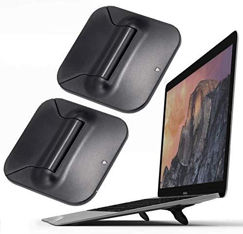Soporte elevador para teclado de ordenador, pequeño, invisible, ergonómico, inclinado, plegable, elevado, para tablet de viaje, para MacBook Air Pro, Lenovo HP y More(2 unidades)