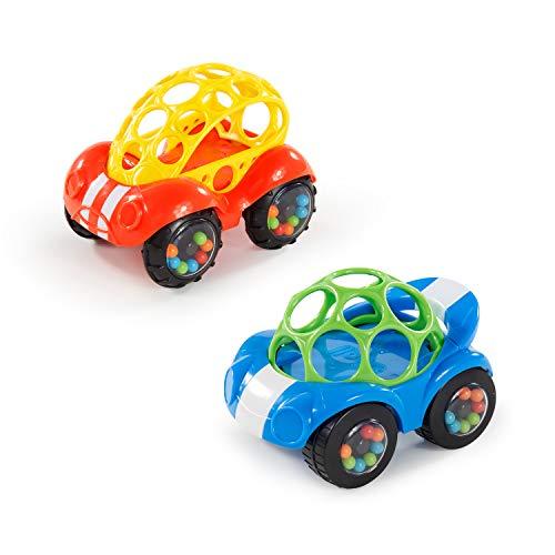 Bright Starts, Oball, Spielzeugauto mit Rassel, 1 Stück, Farblich sortiert