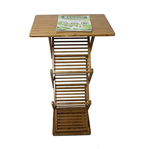 HUAHUA Estante de Revista Armazón plegable de piso Display Stand Magazine Rack Oficina del folleto del soporte de exhibición de pantalla portátil Soporte de suelo pie de color marrón A4 Exposición, (C