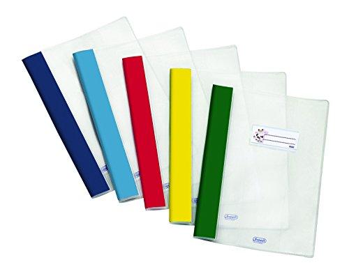 Favorit 400113433 Copri Quaderni A4 Rinforzati con Etichetta Finitura Liscia, Conf. da 10 Pezzi, colori assortiti
