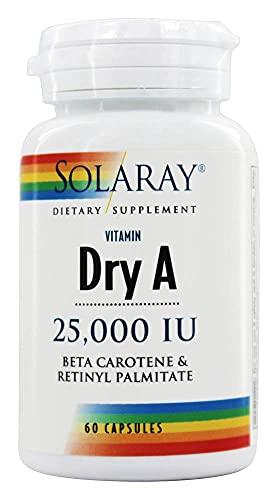 Solaray Vitamin a 25000Ui | 60 Vegcaps