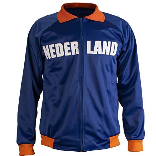 JL Sport Niederlande/Nederland Holland Jacke Retro Fußball Anzug Zip Jacke - S