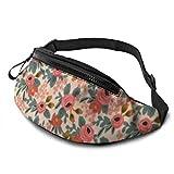 XCNGG Bolso de cintura corriente bolso de cintura de ocio bolso de cintura bolso de cintura de moda Bright Flowers Fanny Packs for Women and Men Waist Bag Adjustable Belt for Outdoors Workout, Traveli
