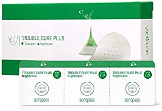 [Acropass] Trouble Cure Plus (9 acne patches, 9 cleansing pads and 15 daycare patches) Instant Acne Pimple Patch with Dissolving Hyaluronic Acid Micro Structure