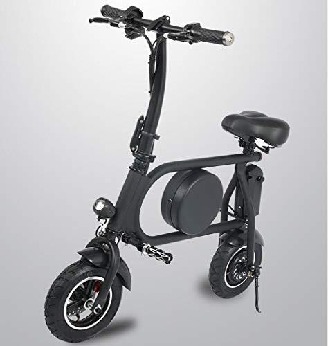 Scooter eléctrico con Asiento E-Scooter Plegable con Motor de 500W Impermeable Absorción de Doble Choque 45 km de Largo Alcance Velocidad máxima 45 km/h Bicicleta eléctrica Urbana para Adulto