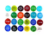 Twenty-four different sayings and quotes on glass rocks, perfect for giveaways. Spread the inspiration around! Give some, keep some. Each stone is approximately 1.25 inches in diameter. Packaged securely for quality. Colors will vary and will not be ...