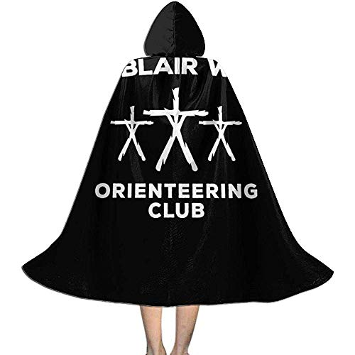 Not Applicable Manto De Bruja,Blair Witch Orienteering Club, Trucker Cap Disfraces De Brujos Personalizados para Disfraces De Brujas Cosplay 118cm
