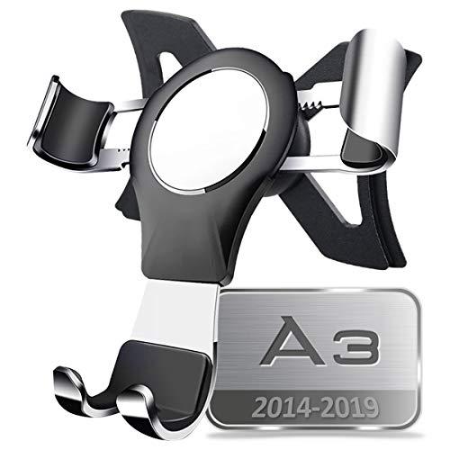 AYADA Porta Cellulare Compatibile con Audi A3 8V, Supporto Cellulare Smartphone Holder gravità Auto Lock Stabile Facile da Installare Hatchback S3 2013 2014 2015 2016 2017 2018 2019 Accessori