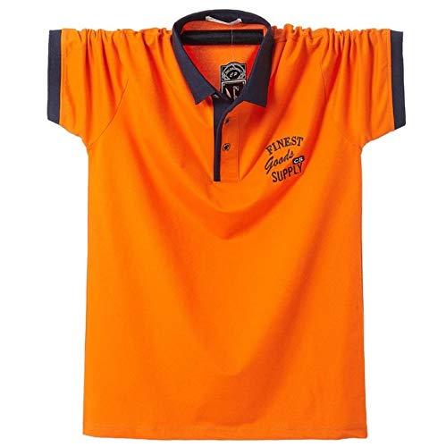 (Two Steps Behind) メンズ 半袖 ゴルフウェア ポロシャツ ビックサイズ ゆったり 大きいサイズ RE59 (4XL,オレンジ)
