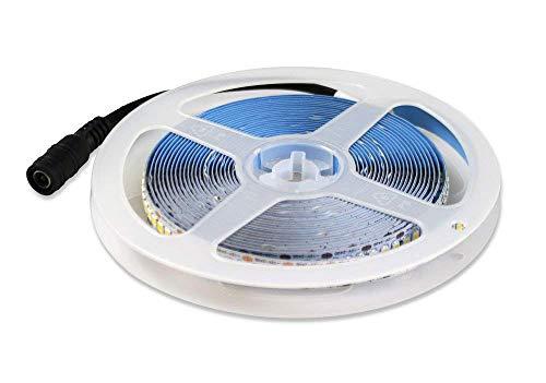 Vetrineinrete Striscia 1200 led smd 2835 strip 5 metri bobina luce bianca fredda 6500k calda 3000k naturale 4000k 12v da interno IP22 (Luce naturale 4000k) C5