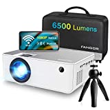 1080P HD Projector, WiFi Projector Bluetooth Projector, FANGOR 6500 Lumen 230' Portable Movie Projector, Home Theater Video Projector Compatible with TV Stick, HDMI, VGA, USB, Laptop, iOS & Android