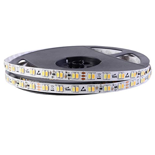 LED Stripe Duo – Blanc, 120 LED/m, 24 V (courant constant Bandes), 26,4 W/mètres, 2700, Ra > 80, 6000 K IP33, rôle 5 m | Blanc