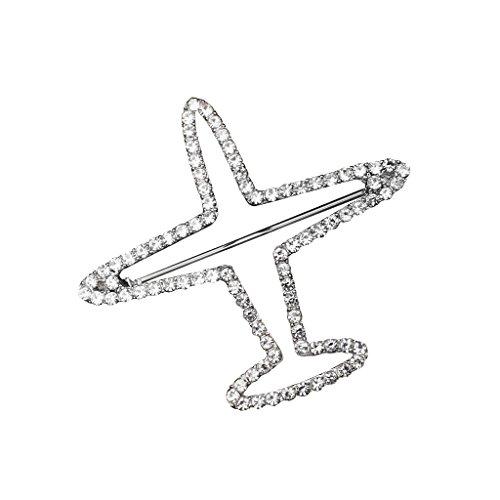 Baoblaze Kristall Strass Brosche Anstecknadel Anstecker Brosche Pins Anzug Kleidung Clips Anstecknadel