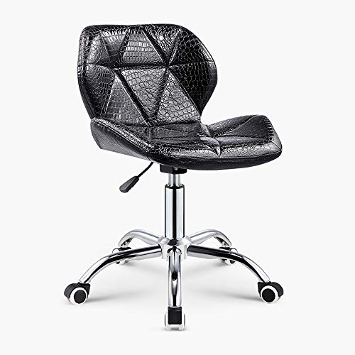 SLTO weiß rosa schwarz Bürostuhl Drehbare Riemenscheibe Besprechungszimmer Big Boss Computer Stuhl Barhocker Barhocker Höhenverstellbarer Sessellift-Black