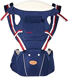 4 Seasons Baby Carrier Hip Seat with Hood Backpack Multifunctional Baby Waist Stool Baby Sling Wrap for 0-36 Month Baby