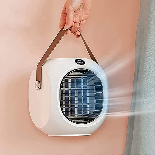 Blast Portable AC, Klimagerät 120 ° Weitwinkel-Schüttelkopf, USB 4000mAh Akku wiederaufladbar, leiser wassergekühlter Luftkühler,Luftbefeuchter Nebelventilator für Home