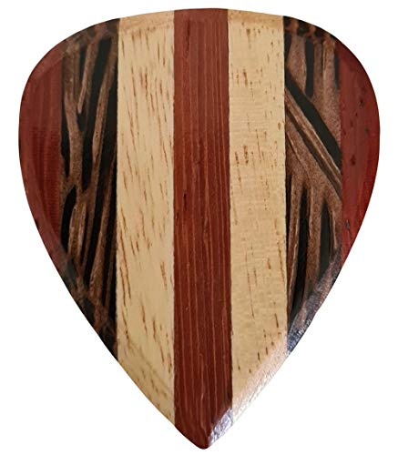 Stanford Guitar Pick Club Man Wood : Luxus Gitarren Plektrum aus Holz für Akustikgitarre, E-Gitarre, Ukulele, Bass…