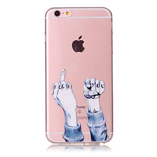 Ultra Dünn Slim Anti-Rutsch Flexible Handyhülle Kreative Soft Licht Gel Gomma TPU Silikon Schutz Handy Hülle Case Tasche Etui Bumper für Apple iPhone SE 2020 iPhone 8 iPhone 7 4,7 Zoll