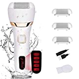 Foot Scrubber Electric Foot File Callus Remover Hard Skin Remover Pedicure Tools for Cracked Heels and Dead Skin with 3 Roller Heads White