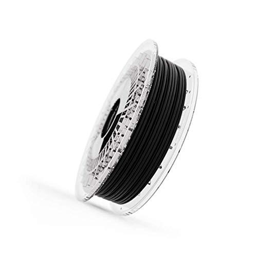 Filamento Elastico FILAFLEX 95A MEDIUM-FLEX con 95A de dureza shore semiflexible compatible con todas las impresoras 3D del mercado incluidas las de extrusor tipo bowden (2.85 mm 500 gr, Negro)