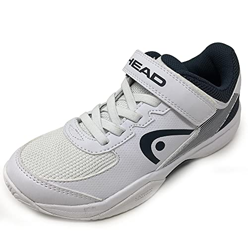 Head Sprint Velcro 3.0 Jnr, Zapatillas de Tenis Unisex Niños, Blanco (White/Midnight Navy Whmn), 34 EU