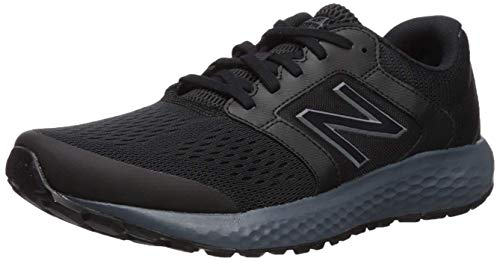 New Balance Men's 520 V5 Running Shoe, Black/Lead, 10.5 XW US
