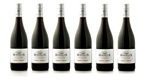 6er Paket - Domaine Horgelus Tannat-Merlot Rotwein (6 x 0.75 l)