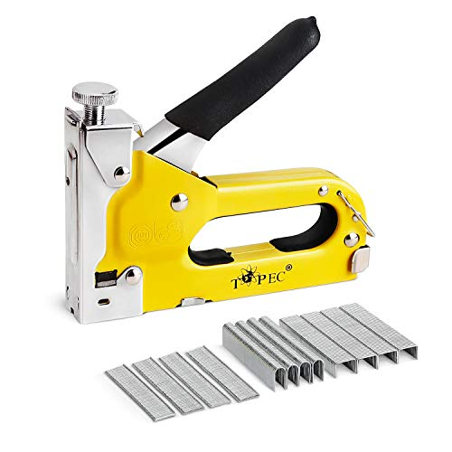 Staple Gun, 3 in 1 Manual Nail Gun with 1800 Staples - Heavy Duty Gun for Upholstery, Fixing Material, Decoration, Carpentry, Furniture
