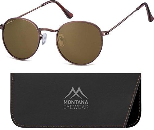Montana Eyewear Sunoptic S92D Sonnenbrille in braun, inklusive Softetui
