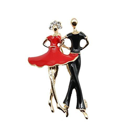 kliy Joyería para Mujer Romántico Vestido De Esmalte Rojo Mujer Ropa Negra...