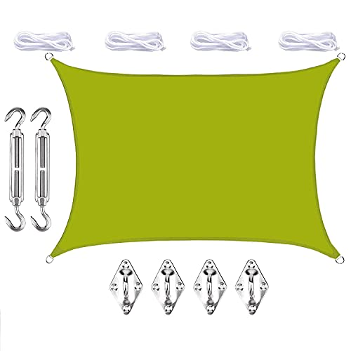 KOIJWWF Toldo de protección Solar Rectangular para jardín, toldo, toldo Impermeable, 98% de Bloque UV, con Kit de fijación, para Patio al Aire Libre, Playa, 2,5 x 3 m,O