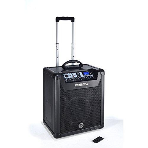 ANT iROLLER10 Sistema Audio Professionale PA All In One, Portatile a batteria, Nero