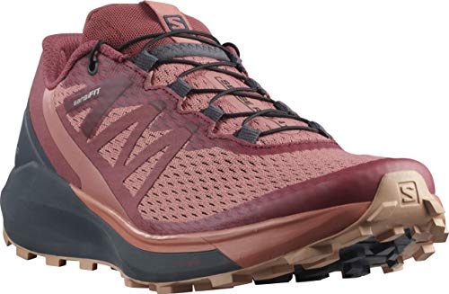 SALOMON Sense Ride 4 W, Zapatillas de Senderismo Mujer, Brick Dust/India Ink/Sirocco, 40 EU