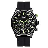 s.Oliver Herren Analog Analogquarz Uhr mit Silikon Armband SO-4181-PM