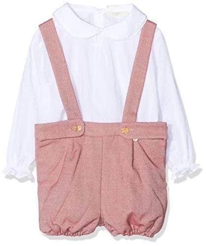 Rigans BB niño Peto Martha Bebé-Niños, Rojo (Granate 484), 98 (Tamaño del Fabricante:3 años) para Bebés