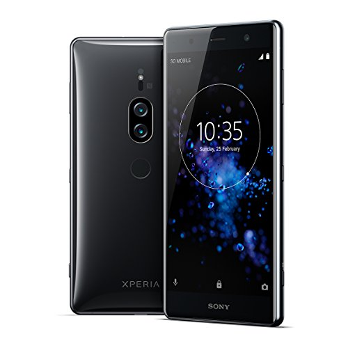 Sony Xperia XZ2 Premium Unlocked Smartphone - Dual SIM - 5.8' 4K HDR Screen - 64GB - Chrome Black (US Warranty)
