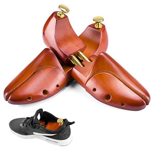 ZYYH Herren Schuhspanner - Twin Tube verstellbare Zedernholzstiefel Bäume - Schuhspanner Holz Schuh Stretcher Shaper für Herren und Damen, 1 Paar