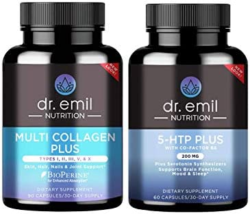 Dr Emil Nutrition Mind Body Bundle Multi Collagen Plus and 200mg 5 HTP Serotonin Synthesizers product image