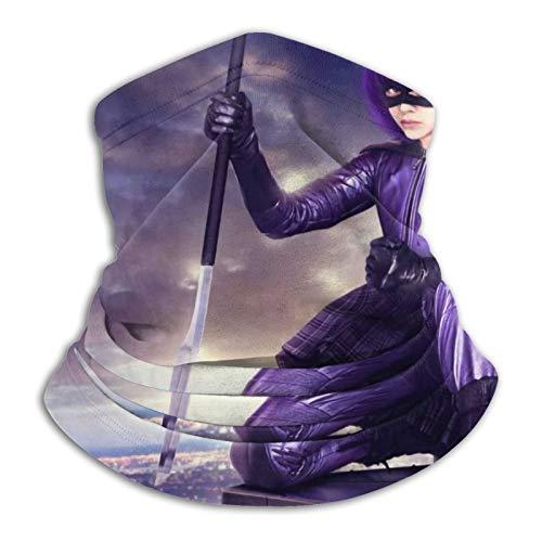 Custom made Hit Girl Kick Ass - Pañuelo de invierno normal para clima frío, resistente al viento, invierno, moto y esquí