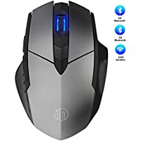 Inphic Rechargeable Bluetooth Wireless Mouse (Grey)